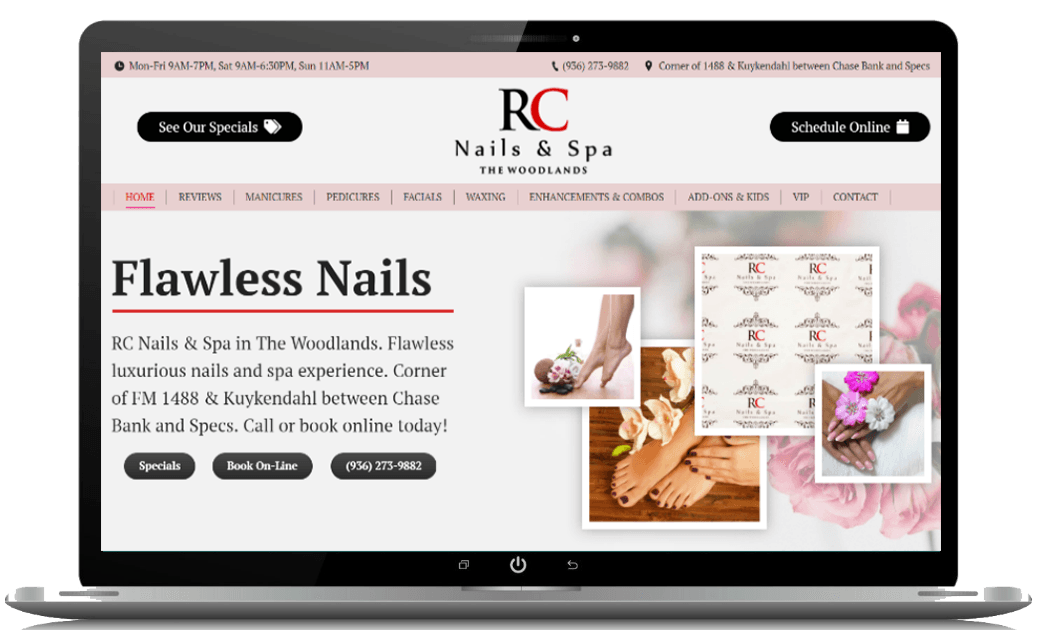 Nail Salon Web Design - SEO Websites Woodlands TX | ProEngage Local