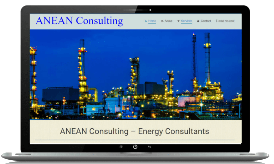 Energy consultant website web design oil gas proengage for Web design consultant