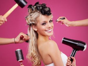Websites for fashion designers model getting hair done