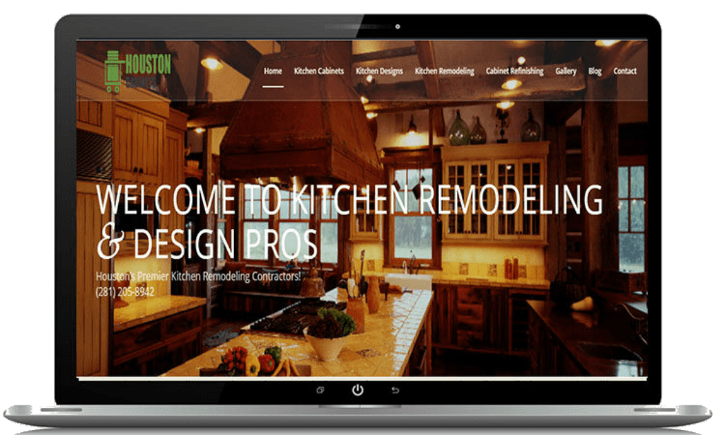 Attractive Kitchen Cabinet Contractors Website Designs Desktop Screenshot