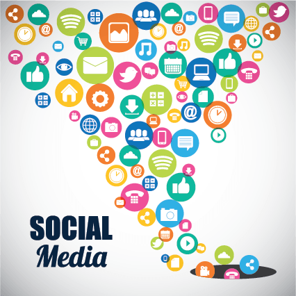 Social media posts sales funnel graphic
